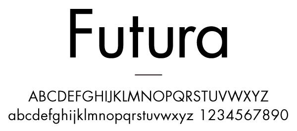 ジオメトリック・サンセリフの代表格Futura