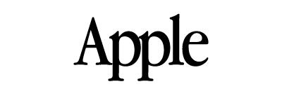 Appleの旧ロゴタイプの書体はApple Garamond