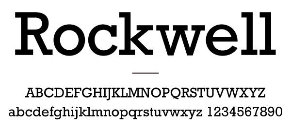 スラブセリフを持つRockwell