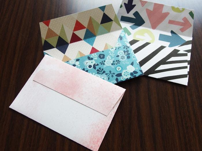 折り紙以外の紙でも封筒がつくれます