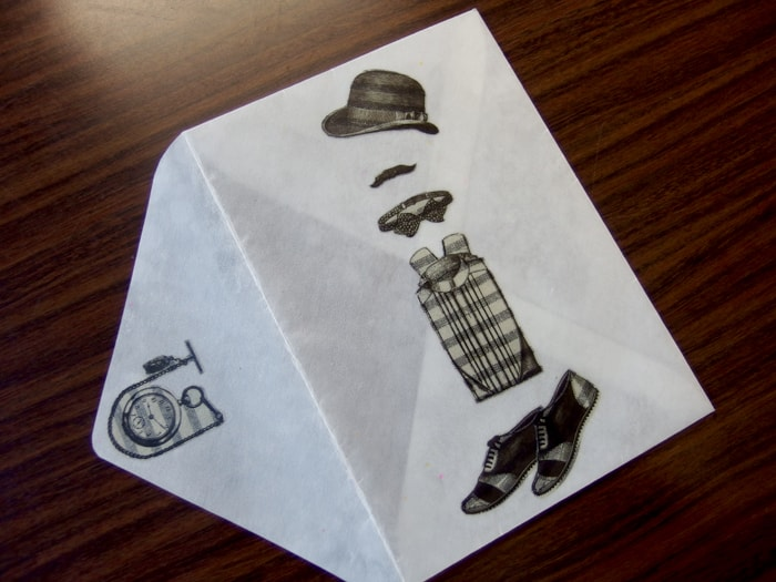 おでかけが待ちきれない デザイン封筒