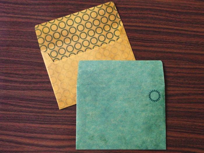 ひまわり デザイン封筒
