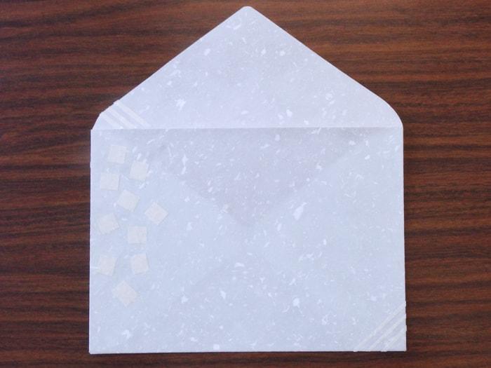 初雪 デザイン封筒