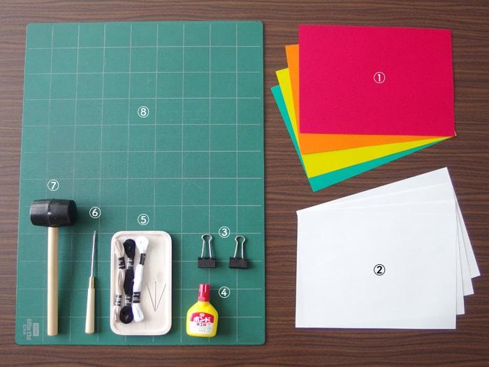 ハンドメイド製本の道具は100円ショップで揃えられます