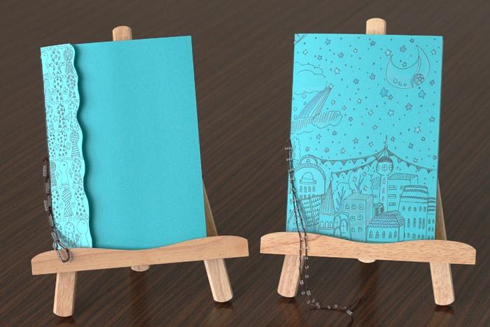 幸せの青い鳥をモチーフにした中綴じノート