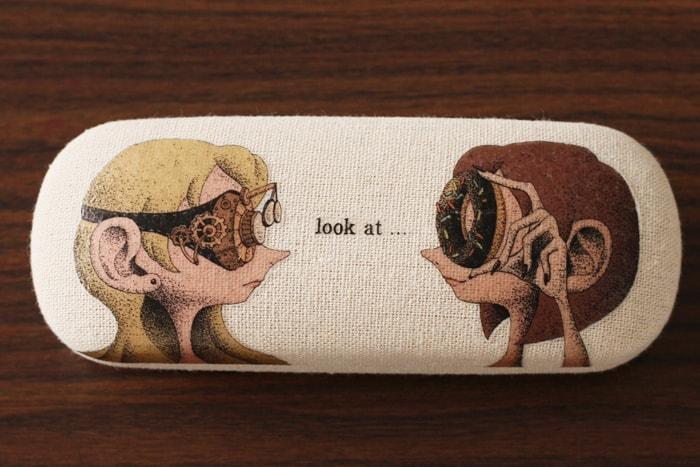 デコパージュ作品「機械眼鏡とオリークック」